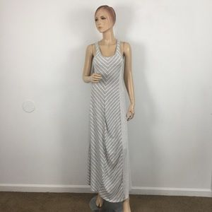 LC Lauren Conrad Gray Chevron Stripe Maxi Dress XS